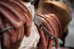 Mięso z kiełbasami Fotografia Stock