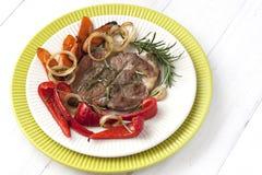Mięso z warzywami fotografia royalty free