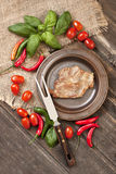 Mięso z warzywami fotografia stock