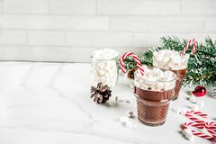 Miętowa gorąca czekolada z marshmallow zdjęcie royalty free