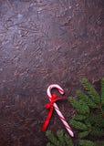 Miętowego cukierku trzcina abstrakcjonistyczny tła bożych narodzeń target1483_1_ świąteczny Fotografia Stock