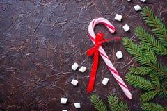 Miętowego cukierku trzcina abstrakcjonistyczny tła bożych narodzeń target1483_1_ świąteczny Fotografia Royalty Free