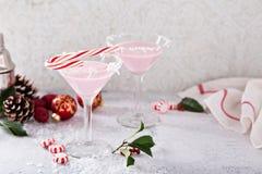 Miętowy Martini koktajl z kokosowym płatka obręczem Obraz Royalty Free