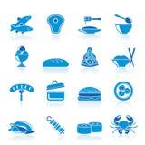 miłe różne karmowe ikony ilustracji