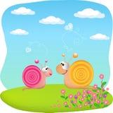 miłość ślimaczki Fotografia Stock