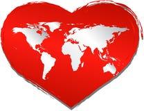 miłość świat ilustracji