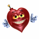 miłość 2 bomba uśmiechnięta royalty ilustracja