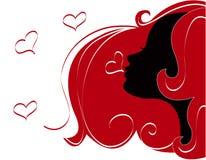 miłość abstrakcjonistyczne ilustracyjne kobiety Obrazy Royalty Free