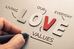 Miłość akronim obrazy stock