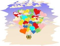 Miłość ballons Fotografia Stock