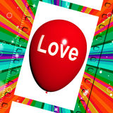 Miłość balon Pokazuje polubienie i Czule uczucie ilustracja wektor