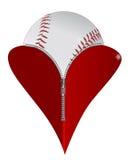 Miłość baseball Zdjęcia Royalty Free
