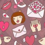 Miłość bezszwowy wzór Fotografia Royalty Free