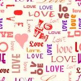 Miłość bezszwowy wzór Zdjęcie Royalty Free