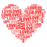 Miłość Biały BG Zdjęcia Stock