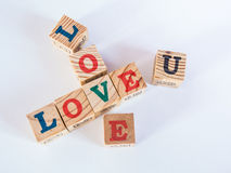 Miłość blok Zdjęcia Royalty Free