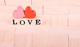 Miłość bloki Obrazy Stock
