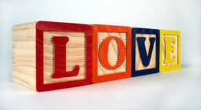 Miłość bloki Zdjęcia Stock