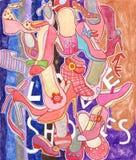 miłość buty royalty ilustracja
