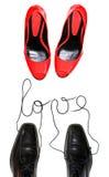 miłość buty Fotografia Stock