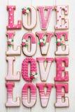 Miłość ciastka fotografia stock