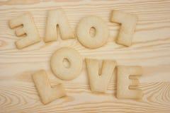 Miłość ciastka obrazy stock