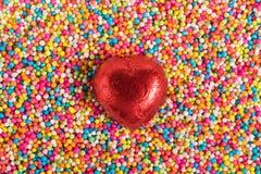 Miłość Colourful cukierek zdjęcia stock