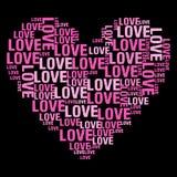 Miłość Czarny BG Obraz Stock