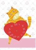 Miłość czas kot Obrazy Royalty Free