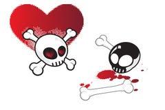 miłość czaszki zbyt Zdjęcie Royalty Free