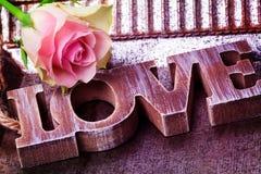 Miłość, dekoracja, Wzrastał, walentynka dzień Obrazy Stock