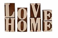 Miłość dom Obraz Stock