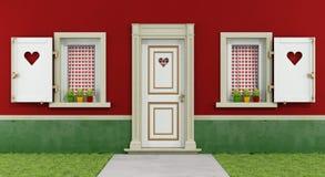 Miłość dom Obrazy Royalty Free