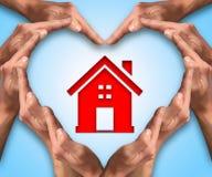 Miłość dom Obraz Royalty Free