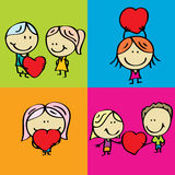 Miłość dzieciaki Obraz Royalty Free