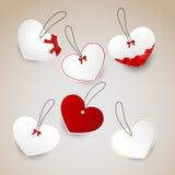 Miłość etykietki Obrazy Royalty Free