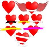 Miłość hearth Obrazy Royalty Free