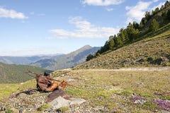 Miłość Iść Wędrować w górach Fotografia Royalty Free