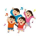 Miłość i afekcja z rodziną ilustracja wektor