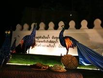 Miłość i ciepło przy zimy ` s Kończymy festiwal przy Królewskim placu Dusit pałac, Bangkok Tajlandia Zdjęcie Stock