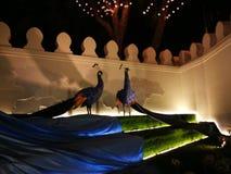 Miłość i ciepło przy zimy ` s Kończymy festiwal przy Królewskim placu Dusit pałac, Bangkok Tajlandia Fotografia Royalty Free