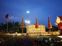 Miłość i ciepło przy zimy ` s Kończymy festiwal przy Królewskim placu Dusit pałac, Bangkok Tajlandia Zdjęcie Royalty Free
