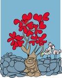 Miłość i drzewo miłość Fotografia Royalty Free