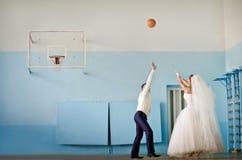 Miłość i koszykówka Obraz Royalty Free