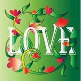 Miłość i kwiaty Fotografia Stock