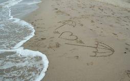 Miłość i morze Zdjęcia Royalty Free