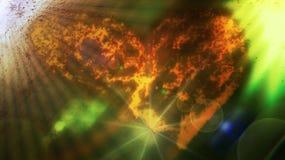 Miłość i nadwodni światła obraz royalty free