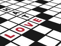 Miłość i nienawiść Obrazy Stock