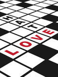 Miłość i nienawiść Fotografia Royalty Free