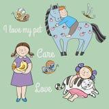 Miłość i opieka ilustracji